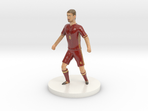 Russian Football Player in Glossy Full Color Sandstone