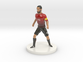 Turkish Football Player in Glossy Full Color Sandstone