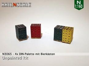 4x DIN-Palette mit Bierkästen (N 1:160) in Smoothest Fine Detail Plastic