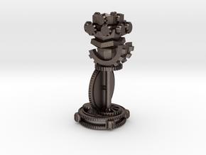 ChessSetGen2Rook in Polished Bronzed Silver Steel