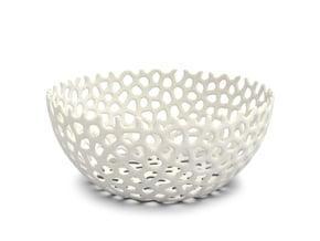 Fruit Bowl cm 20 in White Natural Versatile Plastic