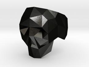 Low-poly Skull Ring in Matte Black Steel: 5 / 49