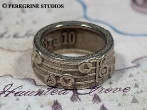 Ring - Song of Storms in Polished Bronzed Silver Steel: 13 / 69