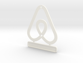 Airbnb HouseSymbol + Message in White Processed Versatile Plastic