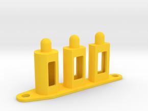 CSF#7 - PKE Fake Bulbs - Pinball Flipper Bat in Yellow Processed Versatile Plastic