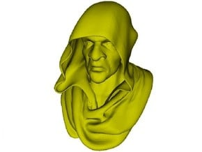 1/9 scale medieval Franciscan friar monk bust in Smooth Fine Detail Plastic