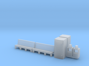 Benches Vending Coke Newspaper Machines N Scale in Smooth Fine Detail Plastic