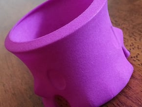 Skeleton Tea Light Holder in White Processed Versatile Plastic