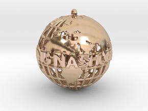 Nu Nation Ent. in 14k Rose Gold Plated Brass