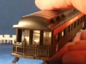 Athearn Pullman Observation car interior HO Scale in White Natural Versatile Plastic