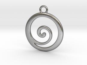 Koru Pendant in Natural Silver
