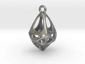 Rhomboid Pendant in Natural Silver