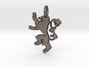 Lannister Sigil Keychain in Polished Bronzed Silver Steel