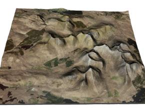 "Twelve Bens Map, Ireland 4"" in Glossy Full Color Sandstone"