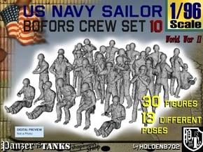 1-96 USN Bofors OKI Crew SET 10 in Smooth Fine Detail Plastic