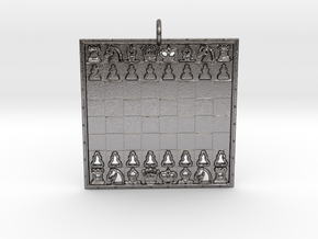 Chess Pendant in Polished Nickel Steel