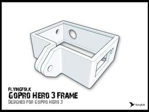GoPro Hero 3 Frame in White Natural Versatile Plastic