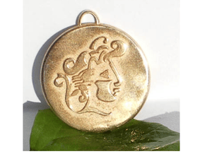 Medaillon in Natural Bronze
