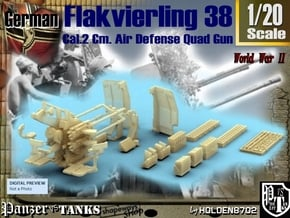 1-20 Flakvierling 38 in White Natural Versatile Plastic