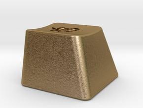Keyboard Cap Pendant - Solid Apple in Polished Gold Steel