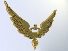 wings in White Natural Versatile Plastic