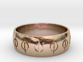 MTG Phyrexia Ring in 14k Rose Gold Plated Brass: 8.5 / 58