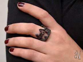 Cat Power Dozing Ring in Matte Black Steel: 8 / 56.75