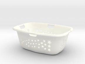 Laundry Basket 1:6 in White Processed Versatile Plastic