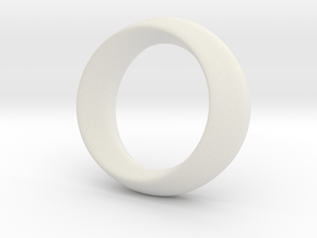 Opus Ring - Bracelet P=180mm in White Natural Versatile Plastic