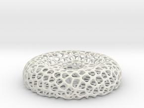 Tealight holder - Voronoi-Style #11 in White Natural Versatile Plastic