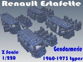 1-220 R-Estafette Gendarmerie SET in White Natural Versatile Plastic