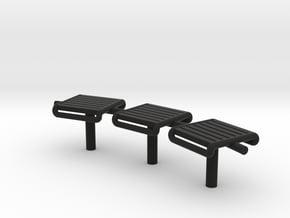 Bench Modern Metal - HO 87:1 Scale in Black Natural Versatile Plastic