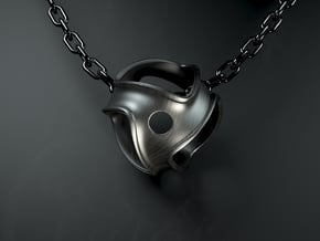 Pendant Harmony Collection in Polished Bronzed Silver Steel