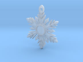Once Upon a Time Snowflake Pendant in Smoothest Fine Detail Plastic