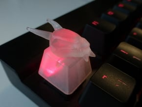Dragon Topre Keycap in Smooth Fine Detail Plastic