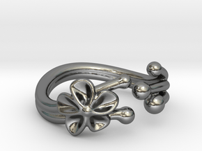 Orchid Ring in Polished Silver
