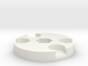 Pad Pod/Dolly Spacer in White Natural Versatile Plastic