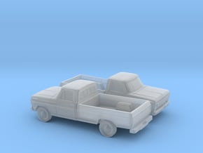 1/160 2X 1967-69 Ford F-Series Reg in Smooth Fine Detail Plastic