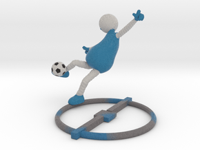 Football Pose 1 - (soccer)  1017N in Full Color Sandstone