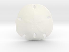 Sand Dollar in White Processed Versatile Plastic