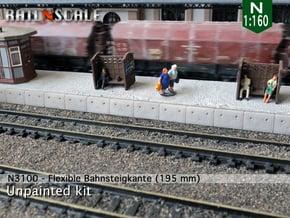 Flexible Österreichische Bahnsteigkante (N 1:160) in White Natural Versatile Plastic