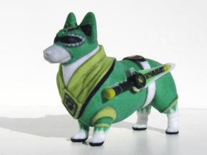 Green Ranger Corgi in Full Color Sandstone