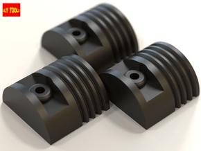 ROTJ Greeblies - 3 X Piston Halves in Black Natural Versatile Plastic