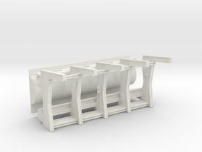 Front Wall Insert v2 with Separated Tube for DeAgo in White Natural Versatile Plastic