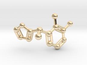 Dexmedetomidine Molecule Keychain Pendant in 14k Gold Plated Brass