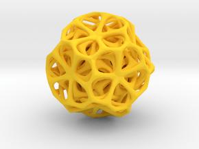 Dodéca flower in Yellow Processed Versatile Plastic