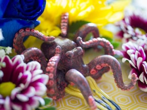Shinzo Octopus Hair Comb in Glossy Full Color Sandstone