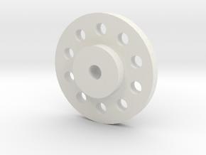 Alcoa Hub in White Natural Versatile Plastic