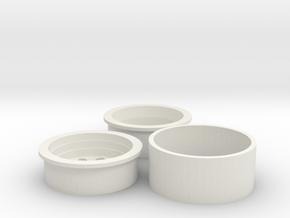 PRC Beadlock 10 Hole Unassembled in White Natural Versatile Plastic