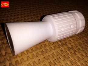 ROTJ Flash Hider (Pro Version NOCUT barrel) in White Processed Versatile Plastic